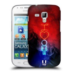 Plastové pouzdro na mobil Samsung Galaxy Trend HEAD CASE NEON I LOVE HIM