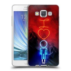 Silikonové pouzdro na mobil Samsung Galaxy A5 HEAD CASE NEON I LOVE HIM