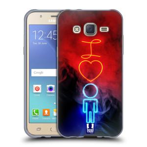 Silikonové pouzdro na mobil Samsung Galaxy J5 HEAD CASE NEON I LOVE HIM