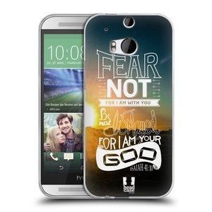 Silikonové pouzdro na mobil HTC ONE M8 HEAD CASE FEAR