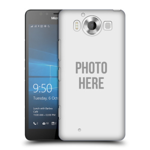 Plastové pouzdro na mobil Microsoft Lumia 950 HEAD CASE s vlastním motivem
