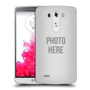 Silikonové pouzdro na mobil LG G3 HEAD CASE s vlastním motivem
