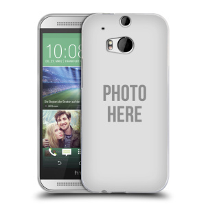 Silikonové pouzdro na mobil HTC ONE M8 HEAD CASE s vlastním motivem