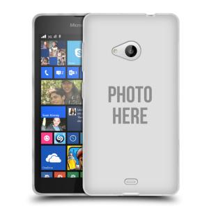 Silikonové pouzdro na mobil Microsoft Lumia 535 HEAD CASE s vlastním motivem