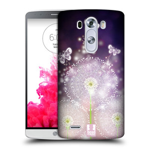Plastové pouzdro na mobil LG G3 HEAD CASE Pampelišky a Motýlci