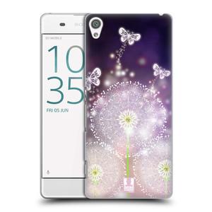 Plastové pouzdro na mobil Sony Xperia XA HEAD CASE Pampelišky a Motýlci