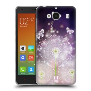 Silikonové pouzdro na mobil Xiaomi Redmi 2 HEAD CASE Pampelišky a Motýlci