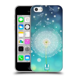 Silikonové pouzdro na mobil Apple iPhone 5C HEAD CASE Rozlétaná pampeliška