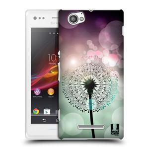 Plastové pouzdro na mobil Sony Xperia M C1905 HEAD CASE Pampeliškové odlesky