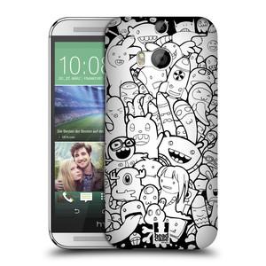 Plastové pouzdro na mobil HTC ONE M8 HEAD CASE DOODLE PŘÍŠERKY A MIMÍCI