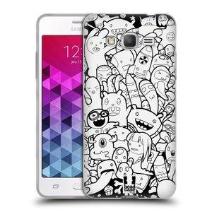 Silikonové pouzdro na mobil Samsung Galaxy Grand Prime VE HEAD CASE DOODLE PŘÍŠERKY A MIMÍCI