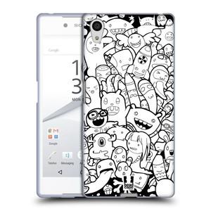 Silikonové pouzdro na mobil Sony Xperia Z5 HEAD CASE DOODLE PŘÍŠERKY A MIMÍCI