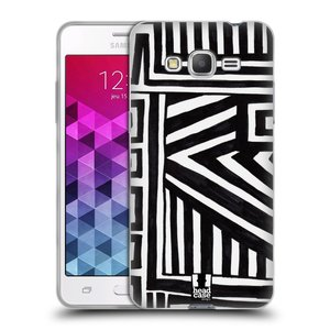 Silikonové pouzdro na mobil Samsung Galaxy Grand Prime VE HEAD CASE DOODLE GEOMETRIC