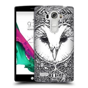 Plastové pouzdro na mobil LG G4s HEAD CASE DOODLE TVÁŘ SOVA