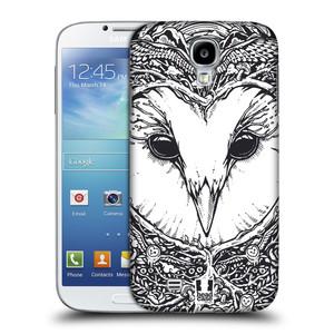 Plastové pouzdro na mobil Samsung Galaxy S4 HEAD CASE DOODLE TVÁŘ SOVA