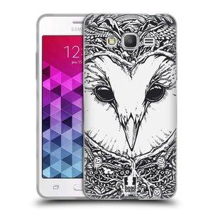 Silikonové pouzdro na mobil Samsung Galaxy Grand Prime VE HEAD CASE DOODLE TVÁŘ SOVA