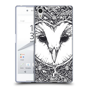 Silikonové pouzdro na mobil Sony Xperia Z5 HEAD CASE DOODLE TVÁŘ SOVA