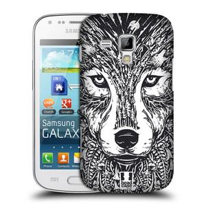 Plastové pouzdro na mobil Samsung Galaxy S Duos 2 HEAD CASE DOODLE TVÁŘ VLK