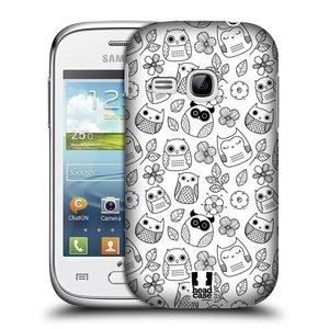 Plastové pouzdro na mobil Samsung Galaxy Young HEAD CASE SOVIČKY A KYTIČKY