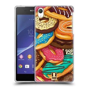 Silikonové pouzdro na mobil Sony Xperia Z2 D6503 HEAD CASE DONUTKY VŠUDE