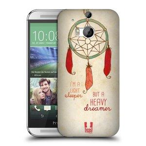 Plastové pouzdro na mobil HTC ONE M8 HEAD CASE LAPAČ HEAVY DREAMER