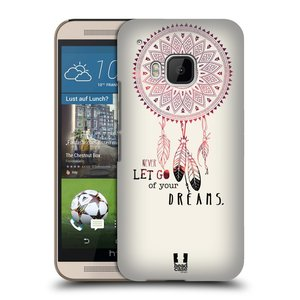 Plastové pouzdro na mobil HTC ONE M9 HEAD CASE LAPAČ NEVER DREAMS