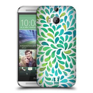 Plastové pouzdro na mobil HTC ONE M8 HEAD CASE Droplet Wave Kapičky