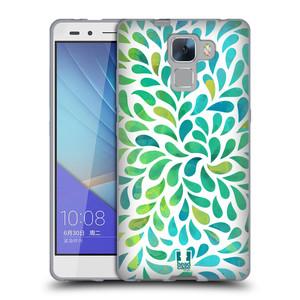 Silikonové pouzdro na mobil Honor 7 HEAD CASE Droplet Wave Kapičky