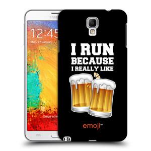 Plastové pouzdro na mobil Samsung Galaxy Note 3 Neo HEAD CASE EMOJI - Běhám na pivko
