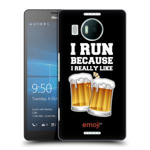 Plastové pouzdro na mobil Microsoft Lumia 950 XL HEAD CASE EMOJI - Běhám na pivko