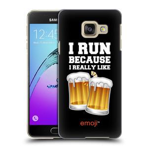 Plastové pouzdro na mobil Samsung Galaxy A3 (2016) HEAD CASE EMOJI - Běhám na pivko