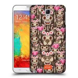 Plastové pouzdro na mobil Samsung Galaxy Note 3 Neo HEAD CASE EMOJI - Opičky, srdíčka a kytičky