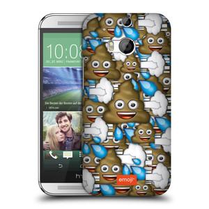 Plastové pouzdro na mobil HTC ONE M8 HEAD CASE EMOJI - Hovínka a prdíky