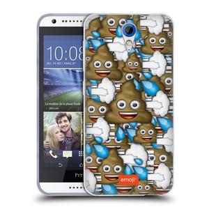 Silikonové pouzdro na mobil HTC Desire 620 HEAD CASE EMOJI - Hovínka a prdíky