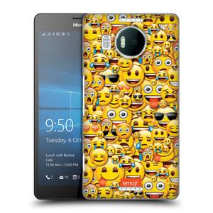 Plastové pouzdro na mobil Microsoft Lumia 950 XL HEAD CASE EMOJI - Mnoho malých smajlíků