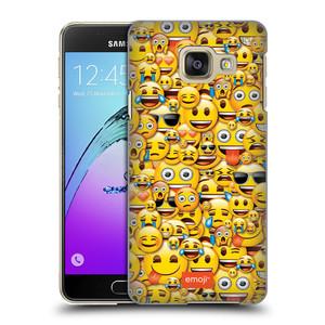 Plastové pouzdro na mobil Samsung Galaxy A3 (2016) HEAD CASE EMOJI - Mnoho malých smajlíků