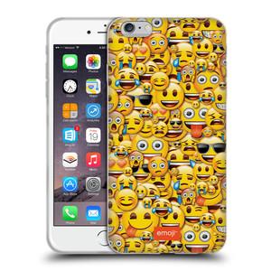 Silikonové pouzdro na mobil Apple iPhone 6 Plus HEAD CASE EMOJI - Mnoho malých smajlíků