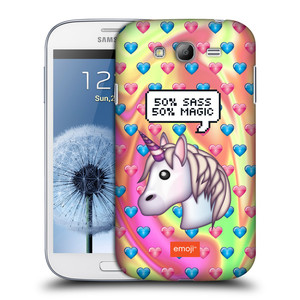Plastové pouzdro na mobil Samsung Galaxy Grand Neo Plus HEAD CASE EMOJI - Jednorožec
