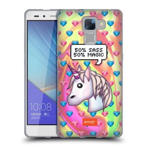 Silikonové pouzdro na mobil Honor 7 HEAD CASE EMOJI - Jednorožec