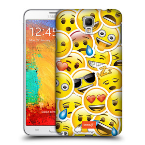 Plastové pouzdro na mobil Samsung Galaxy Note 3 Neo HEAD CASE EMOJI - Velcí smajlíci ZZ