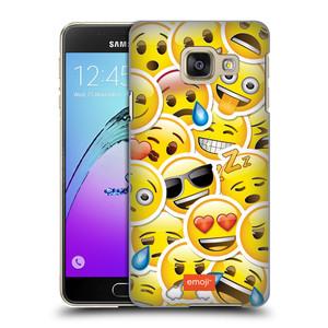 Plastové pouzdro na mobil Samsung Galaxy A3 (2016) HEAD CASE EMOJI - Velcí smajlíci ZZ