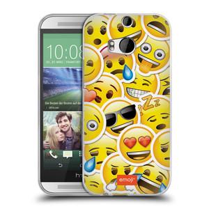 Silikonové pouzdro na mobil HTC ONE M8 HEAD CASE EMOJI - Velcí smajlíci ZZ