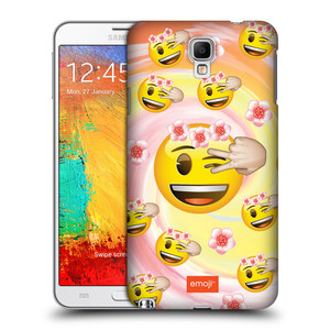 Plastové pouzdro na mobil Samsung Galaxy Note 3 Neo HEAD CASE EMOJI - Mrkající smajlíci a kytičky