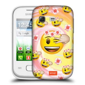 Plastové pouzdro na mobil Samsung Galaxy Pocket HEAD CASE EMOJI - Mrkající smajlíci a kytičky