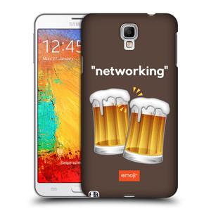 Plastové pouzdro na mobil Samsung Galaxy Note 3 Neo HEAD CASE EMOJI - Pivní networking