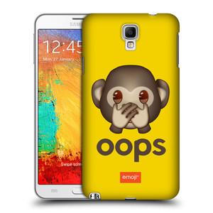 Plastové pouzdro na mobil Samsung Galaxy Note 3 Neo HEAD CASE EMOJI - Opička OOPS