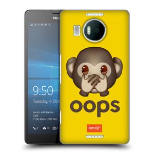 Plastové pouzdro na mobil Microsoft Lumia 950 XL HEAD CASE EMOJI - Opička OOPS
