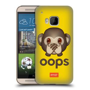 Plastové pouzdro na mobil HTC ONE M9 HEAD CASE EMOJI - Opička OOPS