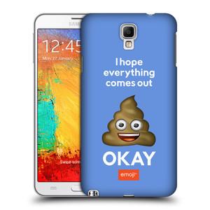 Plastové pouzdro na mobil Samsung Galaxy Note 3 Neo HEAD CASE EMOJI - Hovínko OKAY