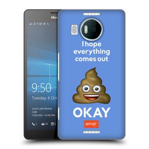 Plastové pouzdro na mobil Microsoft Lumia 950 XL HEAD CASE EMOJI - Hovínko OKAY